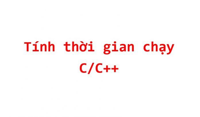do thoi gian thuc hien chuong trinh