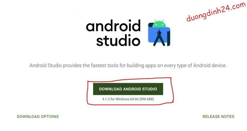 download android studio and sdk tool
