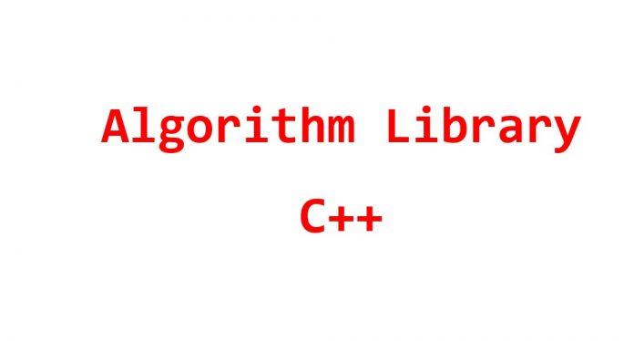 algrorithm library c
