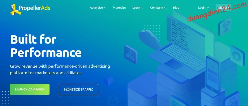 propeller ads thay the google adsense